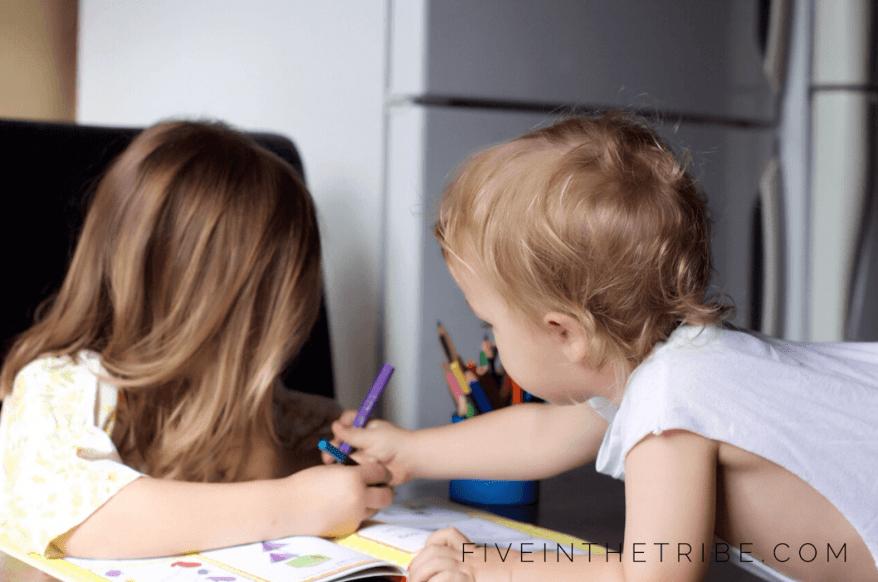 Jess Pilton image - children drawing together