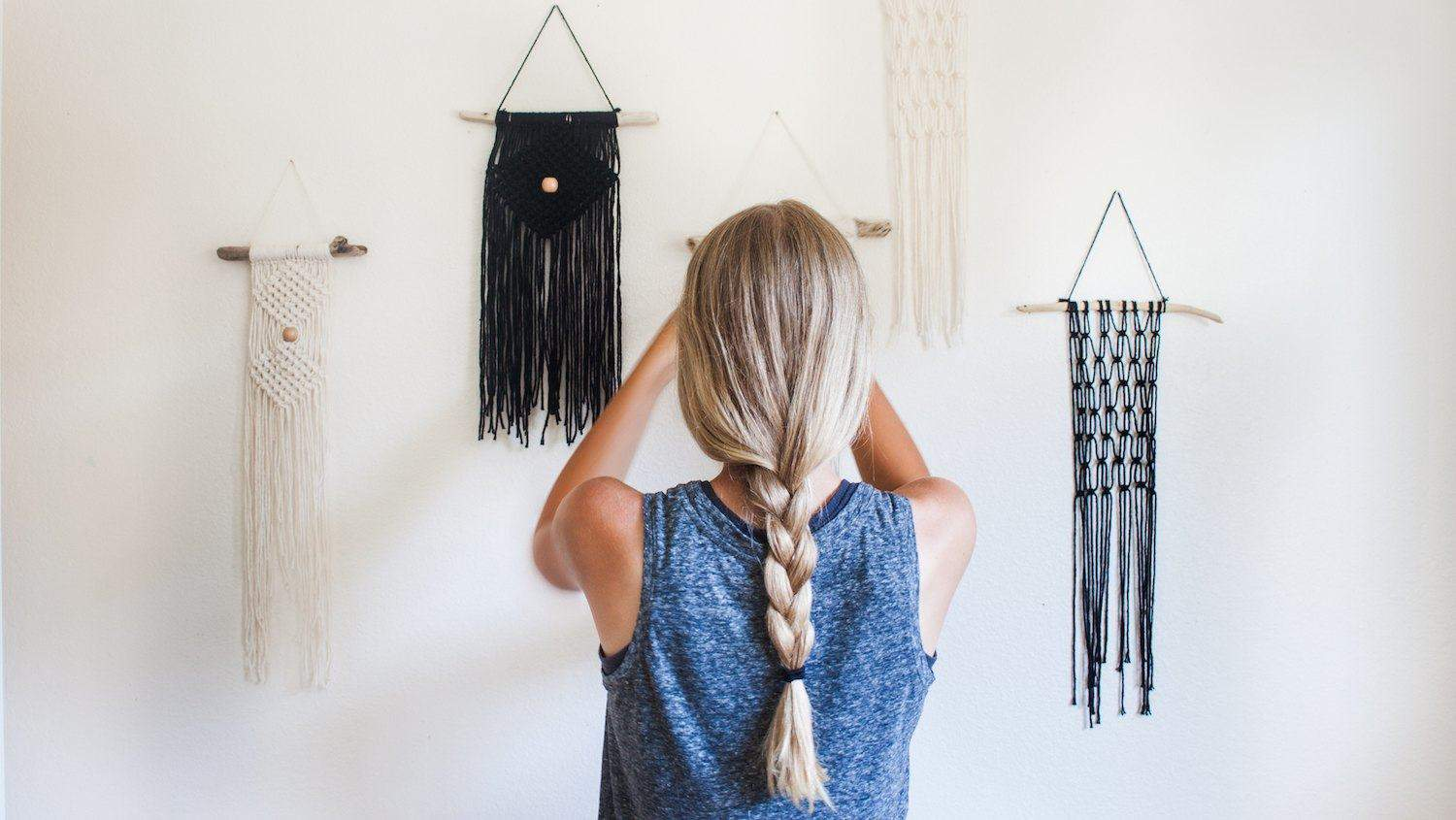 Ruby Waechler: Starting an online shop as a teenager | hanging products on a wall
