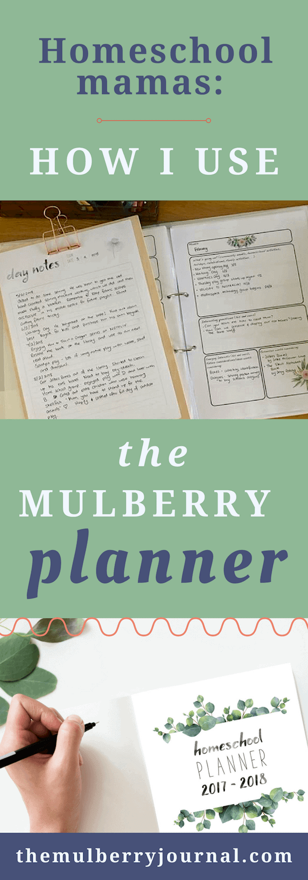 "Homeschool mamas: ""How we use the Mulberry Journal"""